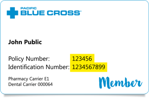 New Pacific Blue Cross ID Card