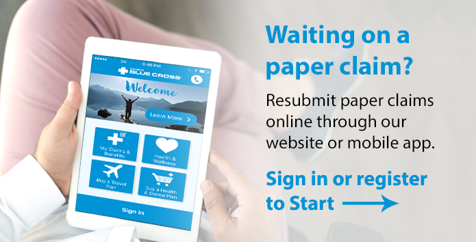 Resubmit your paper claim online