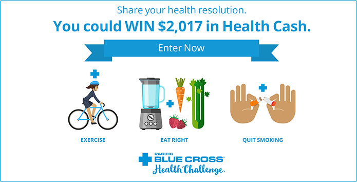Share your health resolution.  Enter Now.