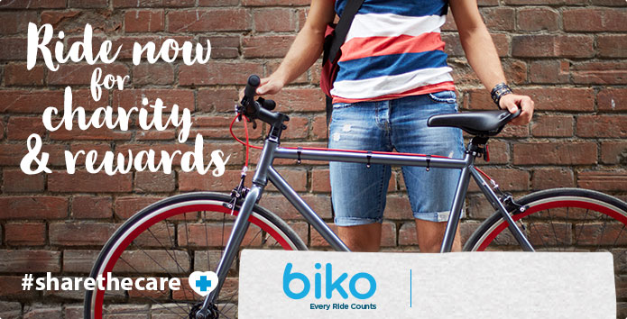Biko - Ride now for charity and rewards
