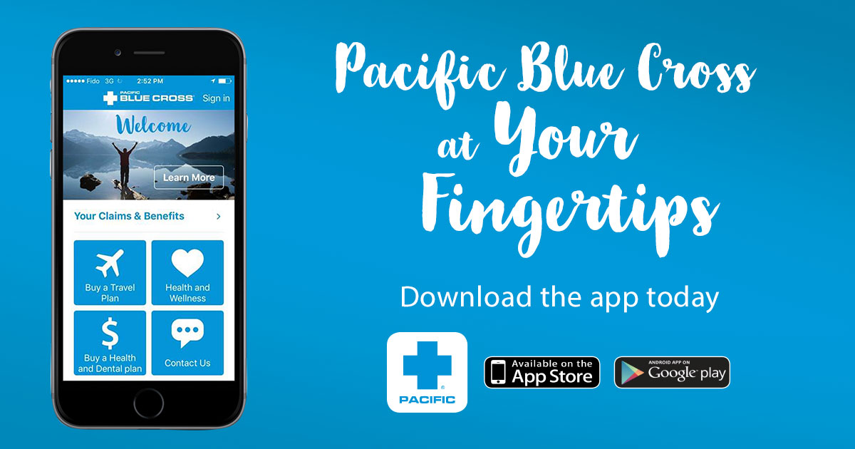 Pacific Blue Cross at your fingertips.  Download the app today
